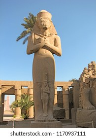 Ramses II Outside the Temple of Amun Ra at Karnak