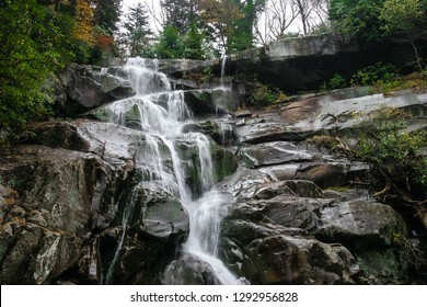 The Ramsey Cascades is a beautiful wooded area with spectacular waterfalls and cascades in an 8.1 mile trail in the Great Smoky Mountains National Park near Gatlinburg, Tennessee.