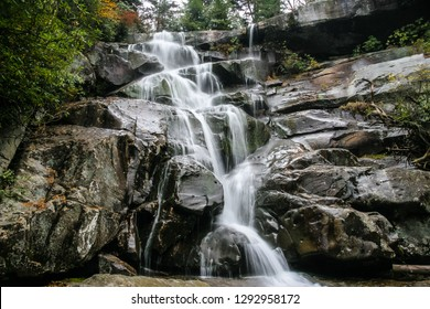 Ramsey Cascades is a spectacular wooded area with waterfalls and cascading water along an 8.1 mile hiking trail. It is located in the Great Smoky Mountains National Park near Gatlinburg, Tennessee.