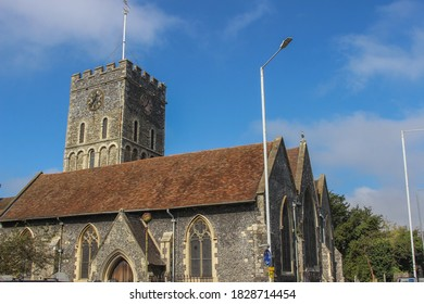 Ramsgate / UK - 21 September 2020: St Laurence-In-Thanet Church in Kent