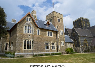 RAMSGATE, UK- May 13: View of The Grange, Augustus Pugin's house,a famous and influential designer and architect he lived here while working on the houses of parliament. May 13, 2017 Ramsgate Kent UK
