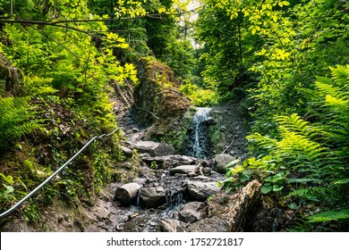 Ram-szakadek, Ram Ravine or Ram Canyon near the village Dobogoko and Domos in Hungary, a very popular and beautiful hiking, trekking trail and tourist attraction
