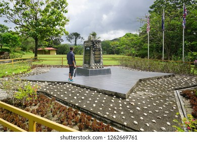 Ranau Sabah Malaysia - Dec 19, 2018 : Prisoner of War (POWs) Last Camp Memorial at Ranau Sabah. The memorial is among landmark of the infamous Death March during Japanese Occupation in Sabah Borneo.