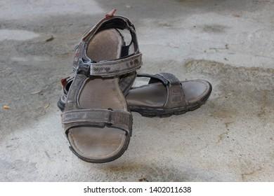 fe2304aa6761b Old Men Sandals Images, Stock Photos & Vectors | Shutterstock