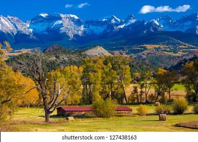 Ranch Below Dallas Divide, San Juan Mountains, Colorado