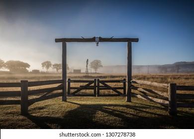 Ranch entry gate, Queensland Australia