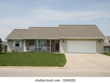 Ranch home with front porch