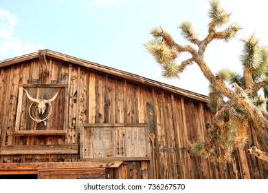 Ranch warehouse with Joshua Tree