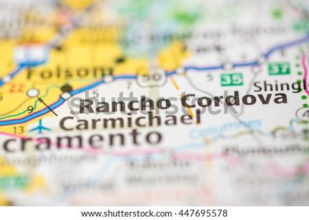Rancho Cordova California Map.Rancho Cordova California Usa Stock Photo Edit Now 447695578