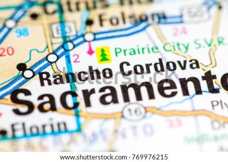 Rancho Cordova California Map.Rancho Cordova California Usa Stock Photo Edit Now 769976215