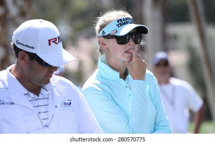 RANCHO MIRAGE, CALIFORNIA - APRIL 03, 2015 : Jessica Korda of usa at the ANA inspiration golf tournament on LPGA Tour, April 03, 2015 at The Mission Hills country club, Rancho Mirage, California