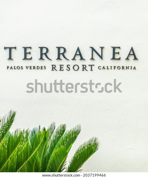Rancho Palos Verdes, California - July 26, 2021: The Terranea Resort Hotel, in Southern California, features restaurants, pools, golf and kayaking.  It debuted in June of 2009.