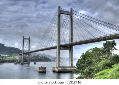 Rande bridge in the Vigo estuary