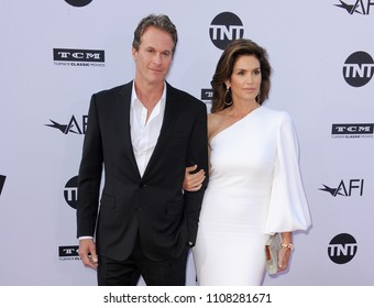 Rande Gerber and Cindy Crawford at the AFI's 46th Life Achievement Award Gala Tribute To George Clooney held at the Dolby Theatre in Hollywood, USA on June 7, 2018.