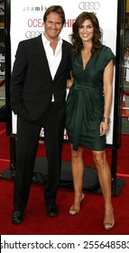 """Rande Gerber and Cindy Crawford attend the Los Angeles Premiere of """"Ocean's Thirteen"""" held at the Grauman's Chinese Theatre in Hollywood, California, on June 5, 2006."""