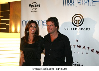 Rande Gerber and Cindy Crawford,at the opening of the Moonstone Bar ans Sweetwater Saloon, Hard Rock Hotel San Diego.
