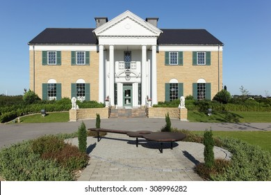 Randers, Denmark - August 19, 2015: Graceland Randers is inspired by Elvis Presley's house in Memphis, Tennessee. It is the only Elvis museum outside USA including a restaurant.