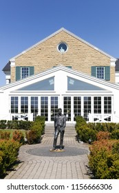 Randers, Denmark - May 5, 2018: Graceland Randers also called Memphis mansion is inspired by Elvis Presley's house in Memphis, Tennessee. It is the only Elvis museum outside USA including a restaurant