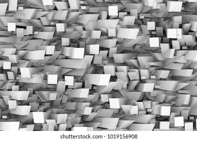 Random 3d stick abstract modern background.3d illustraion and rendering
