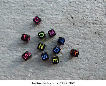 random dice letters
