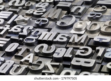 random metal letterpress