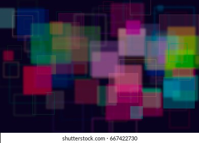 Random square shape, digital generative art for web page, graphic design, catalog, textile or texture printing & background