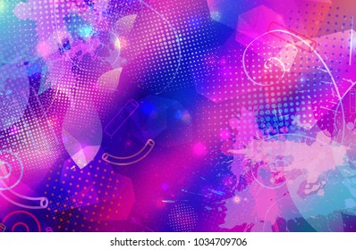 randomly  geometric pattern with gradient color background