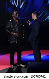 "Randy Jackson and Ryan Seacrest at the ""American Idol"" Season 10 Judges Announcement, Forum, Inglewood, CA. 09-22-10"