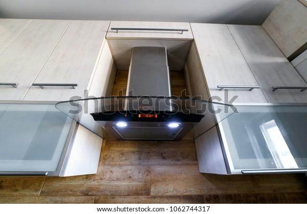 Range Hood Kitchen Interior Stainless Steel Stock Photo Edit Now 1062744317