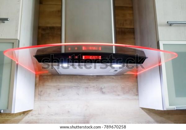 Range Hood Kitchen Interior Stainless Steel Stock Photo Edit Now 789670258