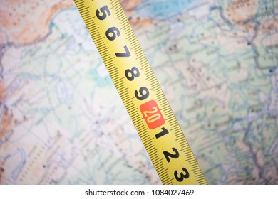 range of measures on the map
