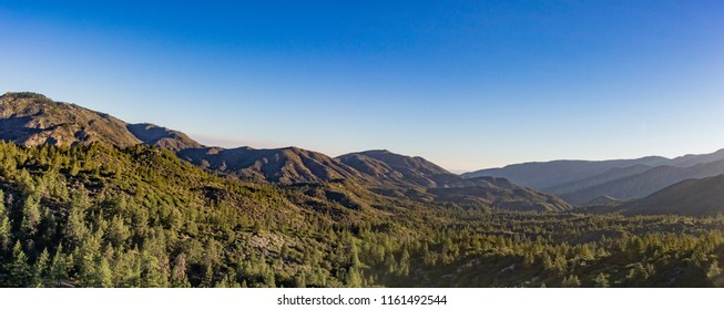 Range of mountains in southern California's Angeles National Forest.