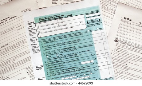 Range of various blank USA tax forms - (16:9 ratio)