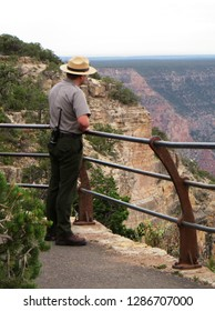 Ranger, working in Grand Canyon National Park, famous landmark of Arizona and America