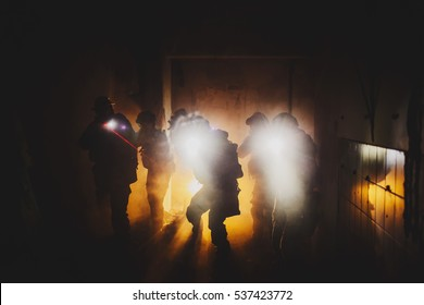 rangers during the military operation at the night