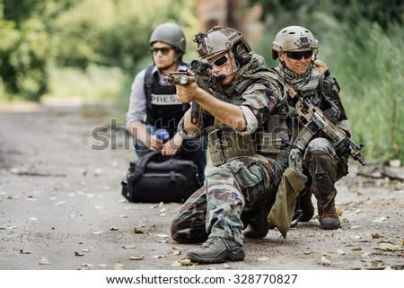 c2607f881ea Rangers Rescue Military Journalist Danger Zone Stock Photo (Edit Now ...