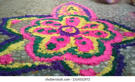 Rangoli- A way to decorate the doorway to house during festivals in India.