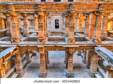 Rani ki vav, an intricately constructed stepwell in Patan. A UNESCO world heritage site in Gujarat, India