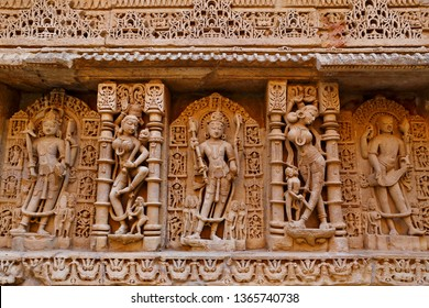 Rani ki vav, an stepwell on the banks of Saraswati River in Patan. A UNESCO world heritage site in Gujarat, India