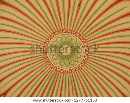 rani sisodiya baug, Jaipur, Rajasthan/India, 1st January 2019: awesome ceiling design with unique architecture.
