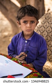 Ranikot-MARCH 04 : village child posing in the classroom on March 04, 2018 in Sindh,Pakistan