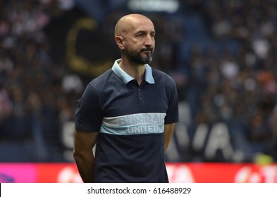 Ranko Popovic head coach of Buriram United during Toyota Thai League 2017 match between Buriram United and SCG Muangthong United at i-mobile stadium on April 3,2017 in Buriram,Thailand.