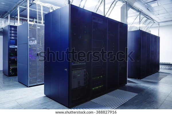 ranks modern supercomputers in the server room of datacenter