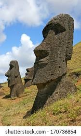 Rano Raraku Moai Easter Island (Rapa Nui)