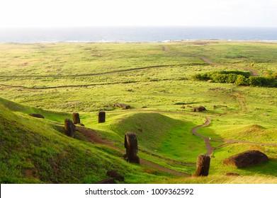 Rano Raraku Moais - Easter Island