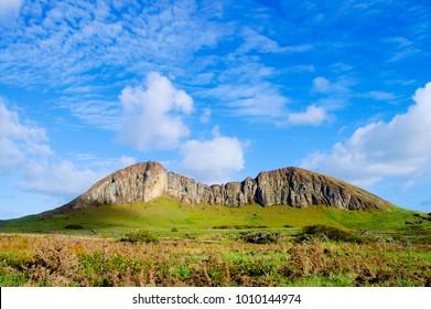 Rano Raraku Mountain - Easter Island - Shutterstock ID 1010144974