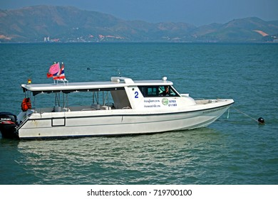 RANONG-THAILAND-FEBRUARY 20 : The Speed boat on the sea, February 20, 2016 Ranong Province, Thailand.