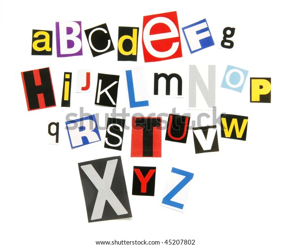 Ransom Note Alphabet Stock Photo  Edit Now  45207802