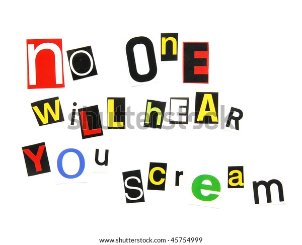 Ransom Note Threat Stock Photo  Edit Now  45754999