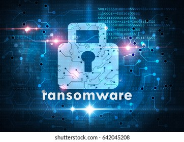 ransomware attack cybersecurity concept